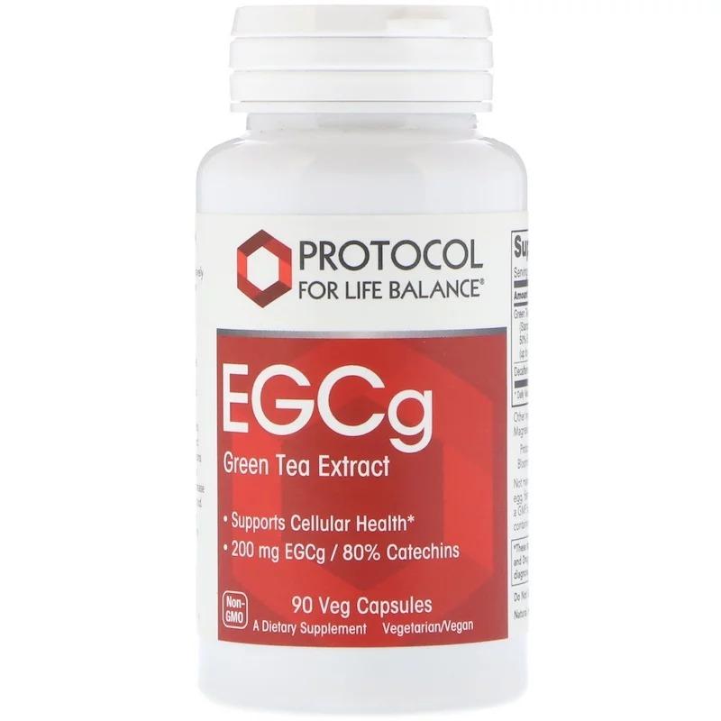 Protocol for Life Balance, ЭГКГ, экстракт зеленого чая, 90 растительных капсул
