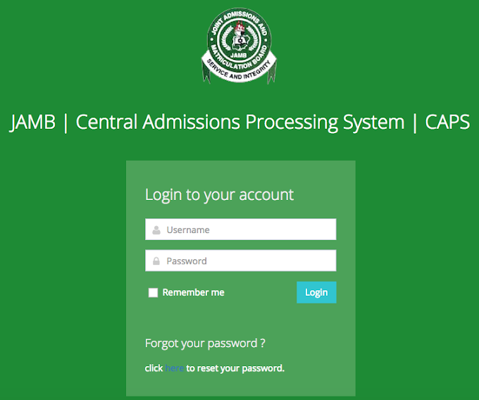 JAMB CAPS 2020 is activated: Check Admission Status