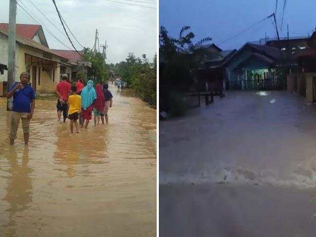 Kota Jambi Diguyur Hujan, Ratusan Rumah warga Terendam Banjir