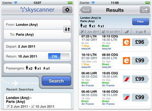 Skyscanner iPhone app allows users find cheap flights on the go