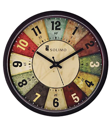 Amazon Brand Solimo 12 Inch Wall Clock