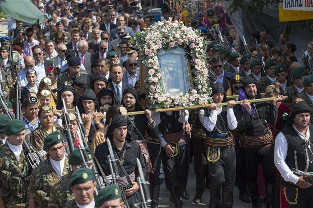 O εορτασμός του Δεκαπενταύγουστου στην Παναγία Σουμελά στο Βέρμιο