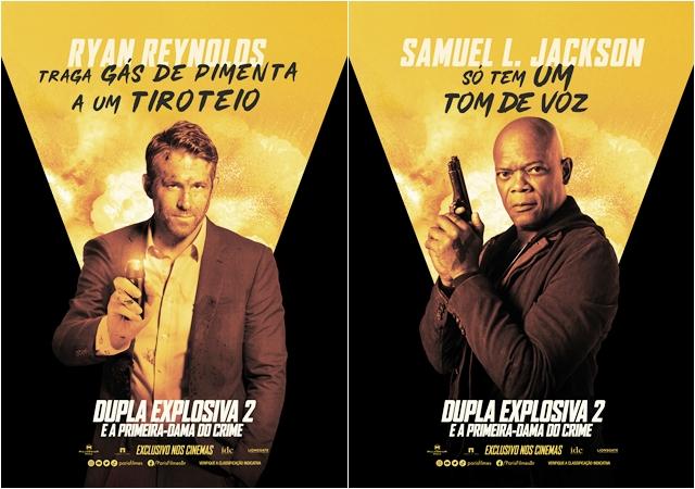 """CINEMA: """"Dupla Explosiva 2 – E a Primeira-Dama do Crime"""" ganha cartazes de personagens (COM VÍDEO)"""