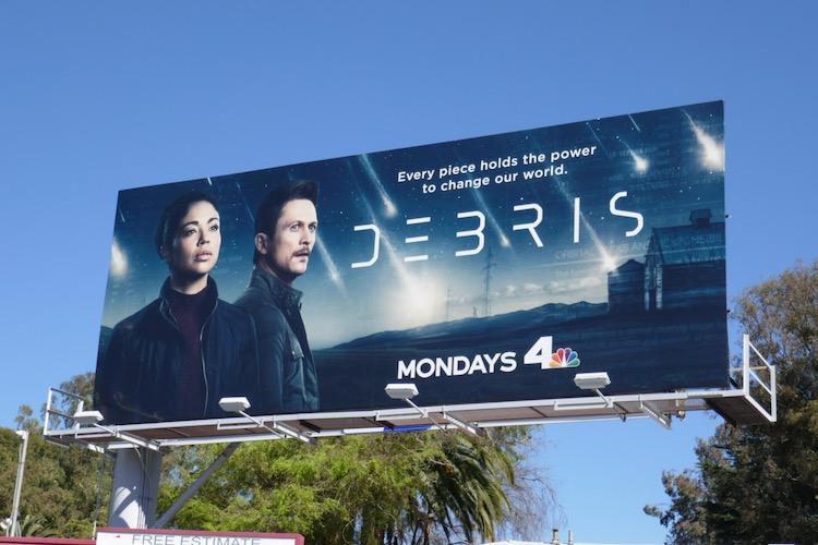 Debris series launch billboard