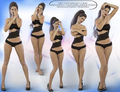 Z Feminine Touch - Pose Partials Compilation