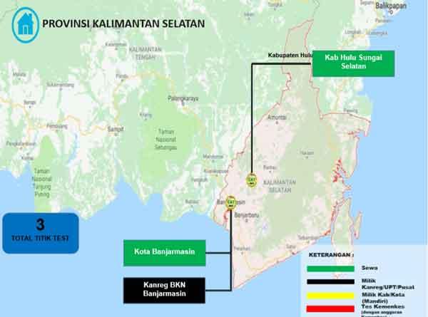 Lokasi Tes Cat BKN Propinsi Kalimantan Selatan