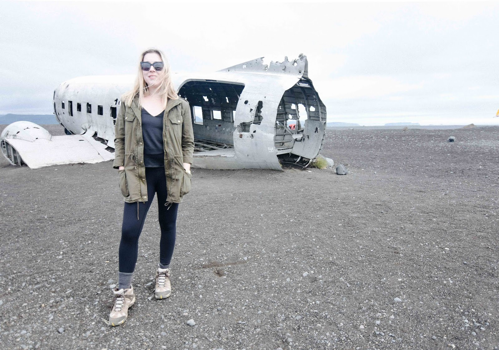DC3 plane wreck in Sólheimasandur iceland travel blog