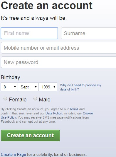 login facebook with google search