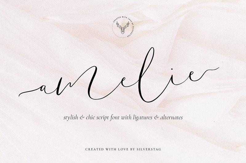 Amelie - Chic & Elegant Script Font 4723543