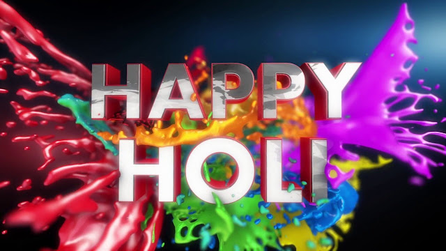 Happy Holi Images 3D-Download 3D images Now For Free