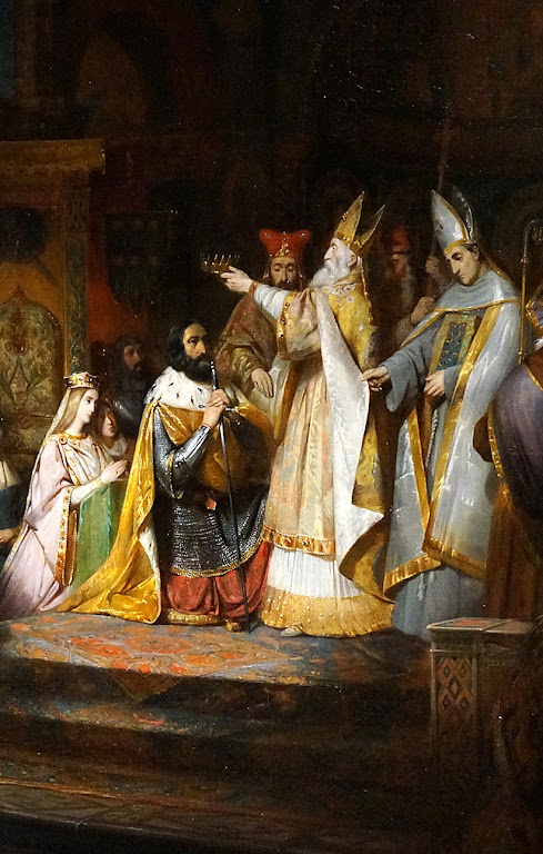 Caros Magno coroado rei dos lombardos, Claude Jacquand  (1803 - 1878)