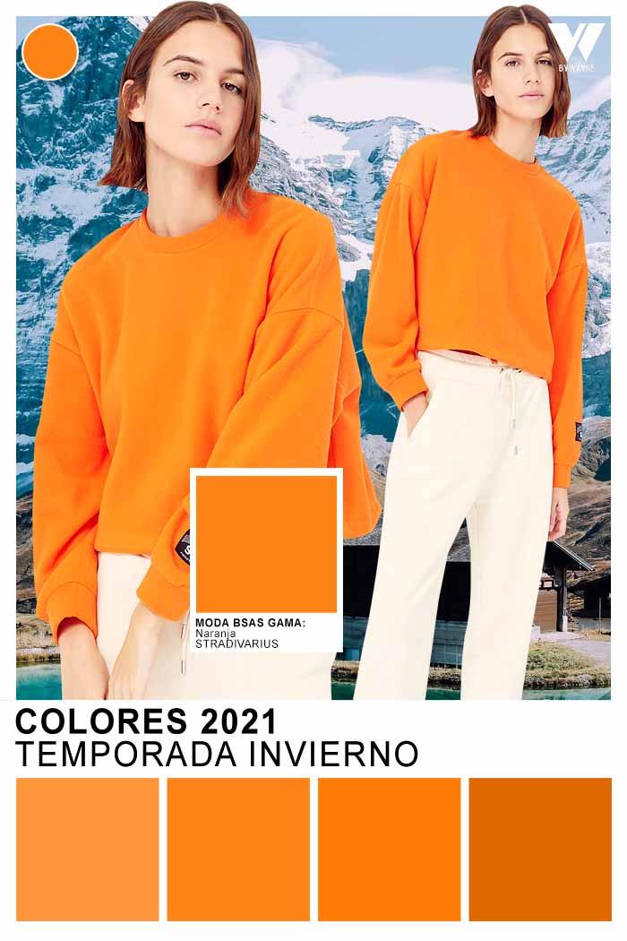 Naranja colores de moda invierno 2021 moda mujer
