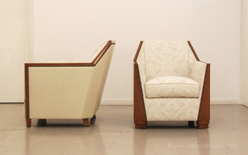 One The Recent Projects Included These Art Deco Inspired Chairs For A Commercial E In Florida