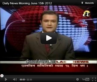 nepali songs nepali news nepali tv shows nepali morning news june 15th 2012 jeth 2069