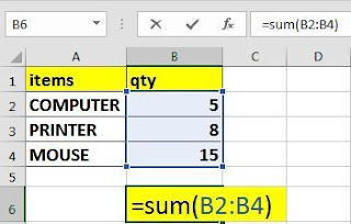 USE OF EXCEL FORMULAS SUM, SUMIF & SUMIFS WITH EXAMPLE