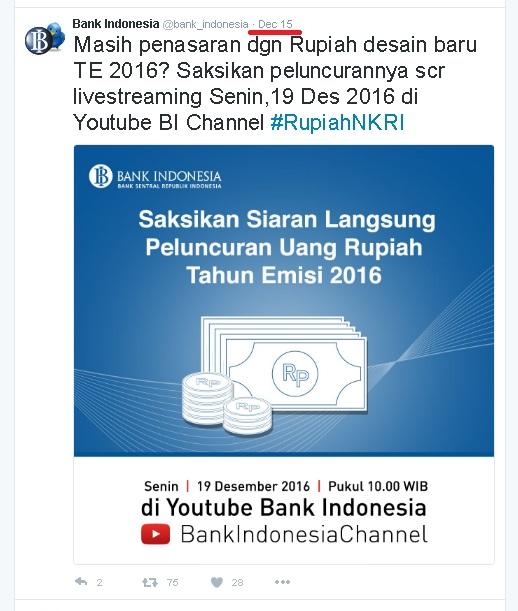 BI dan Pemerintah akan meluncurkan 11 pecahan uang Rupiah desain baru secara serentak