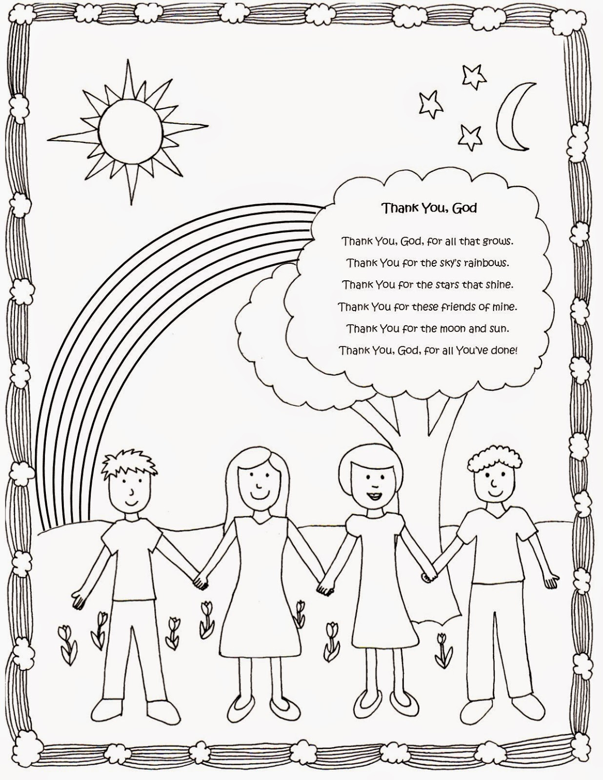 Drawn2bcreative Cute And Free Coloring Page With Thank