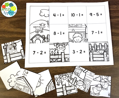 Escape from the Farm! A Subtraction Breakout Activity | Apples to Applique