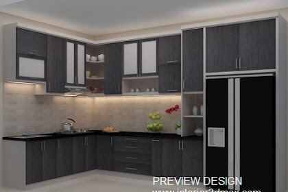 Jasa design 3dmax kitchenset murah