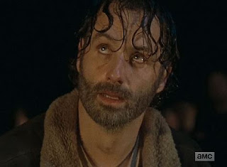 Rick Grimes looking terrified