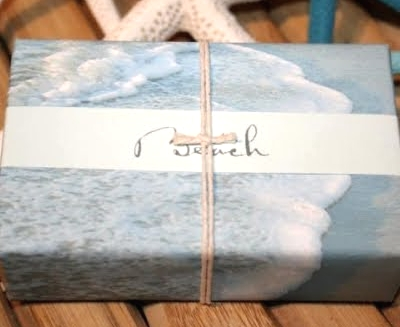 beach gift wrapping paper