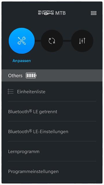 Über das Menü Anpassen kann der eBike-Motor konfiguriert werden.