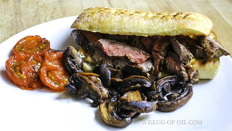 Hot Steak Ciabatta Sandwich with Mustard Mayo
