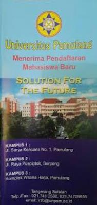 Pengalaman Daftar PMB Online Universitas Pamulang