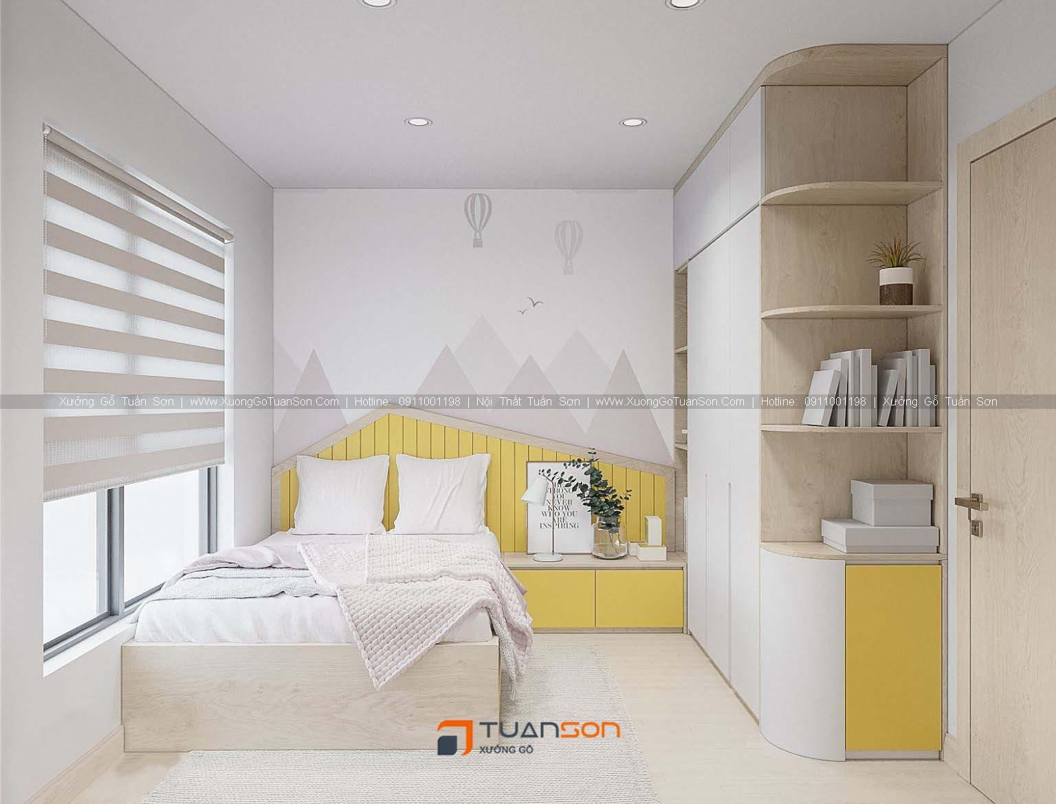 Thiết kế nội thất căn hộ số 08 (73.9m2) 2PN Phương Đông Green Park