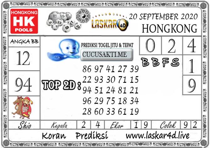 Prediksi Togel HONGKONG LASKAR4D 20 SEPTEMBER 2020