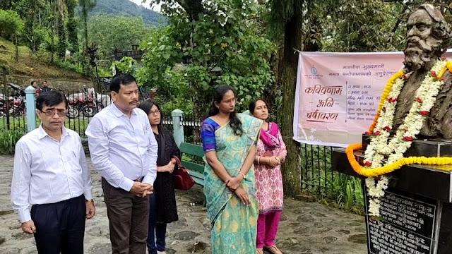 Darjeeling DM Dipap Priya at 78th Death Anniversary of Rabindranath Tagore in Mungpoo