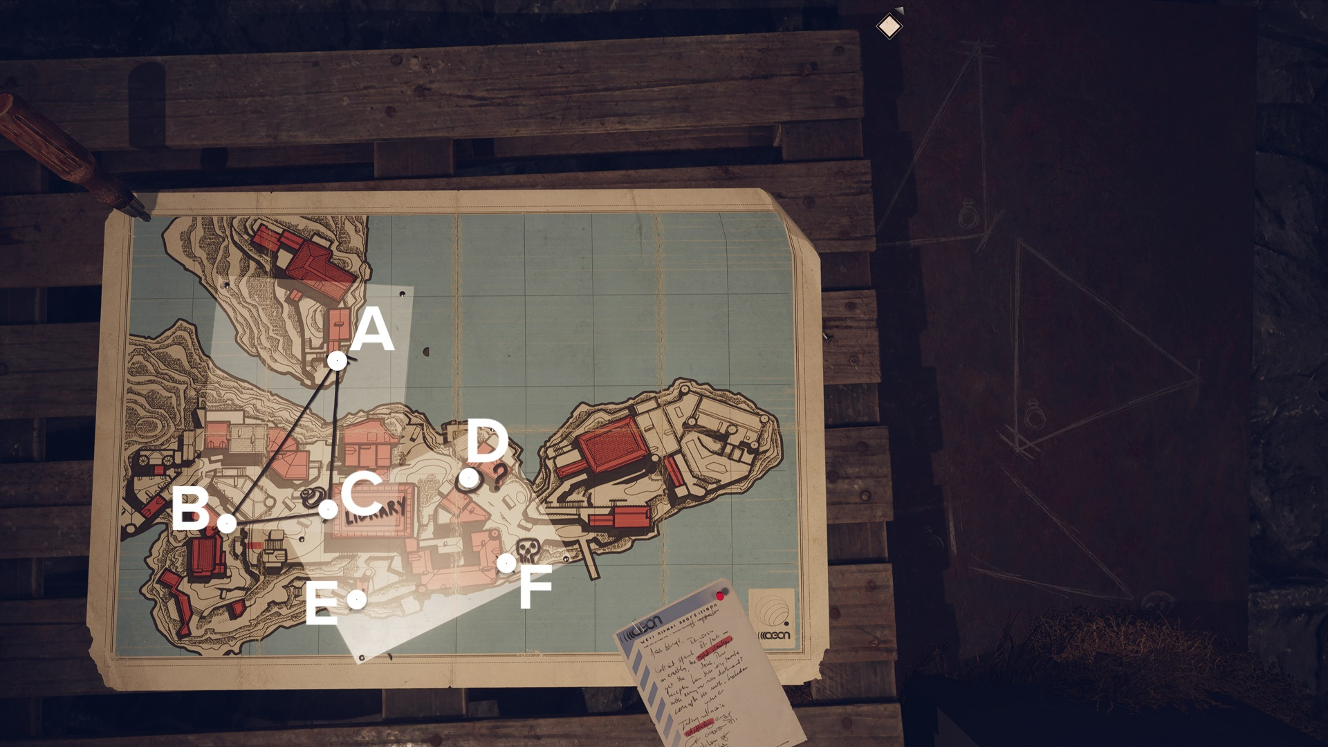 Safe location, maps and notes