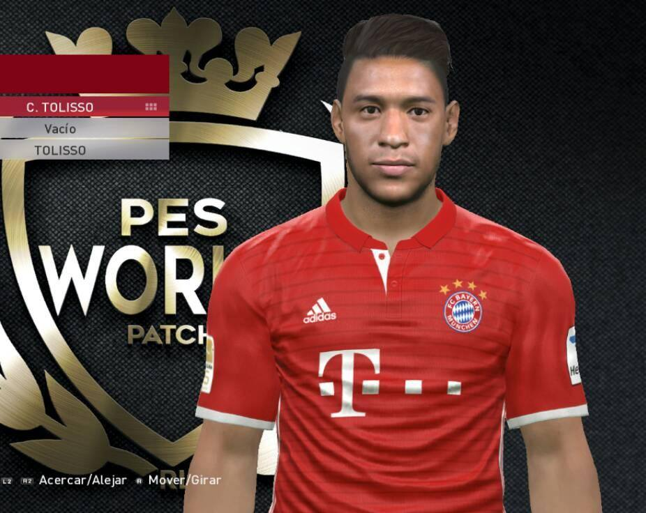 PES 2017 Corentin Tolisso Face by Facemaker Fire24
