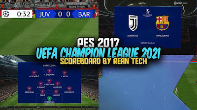 UEFA Champion League Scoreboard 2021
