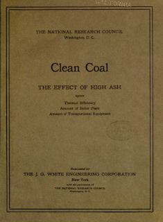 """Publication de 1918 : """"Charbon propre : les effets de la teneur en cendre sur l'efficacité thermique"""""""