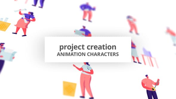 Videohive - Project Creation - Character Set 28672421