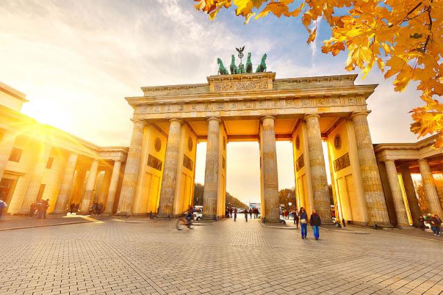 Portão de Brandemburgo em Berlim em outubro
