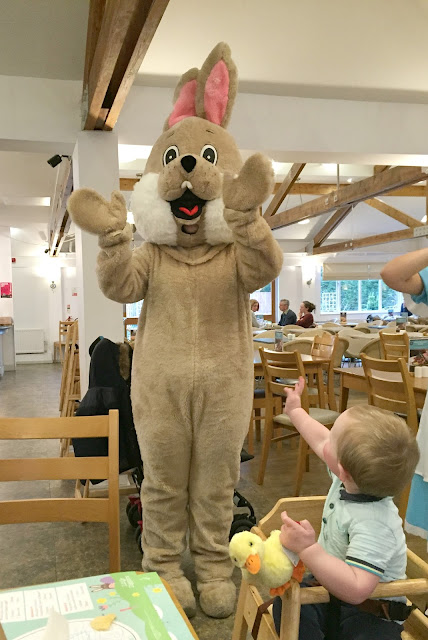 Easter bunny at garden centre event