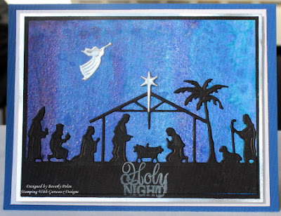 ODBD Custom Holy Night Dies, ODBD Delightful Decorations, ODBD Customer Card of the Day Created by Beverly Polen