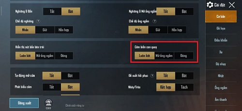 Người chơi có thể bay con quay hồi biến hóa chỉ trong phần thiết đặt cơ bản