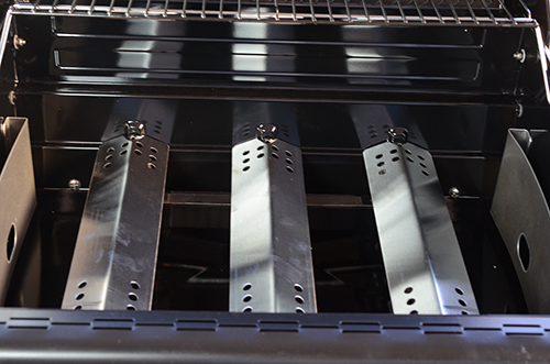 Burners on the Char-Broil gas to coal combination grill are standard burners.