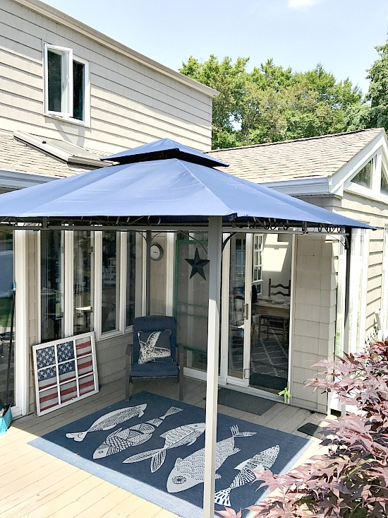 gazebo for the corner of the deck