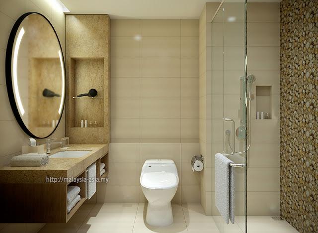 Big Box Hotel Bathroom Toilet
