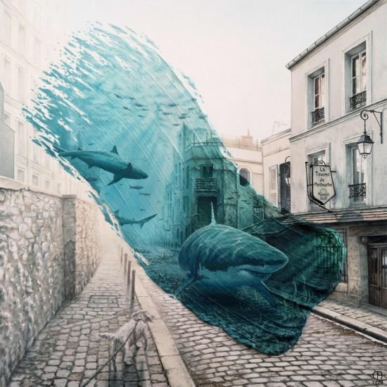 David Ambarzumjan arte pinturas surreais pinceladas janelas no tempo