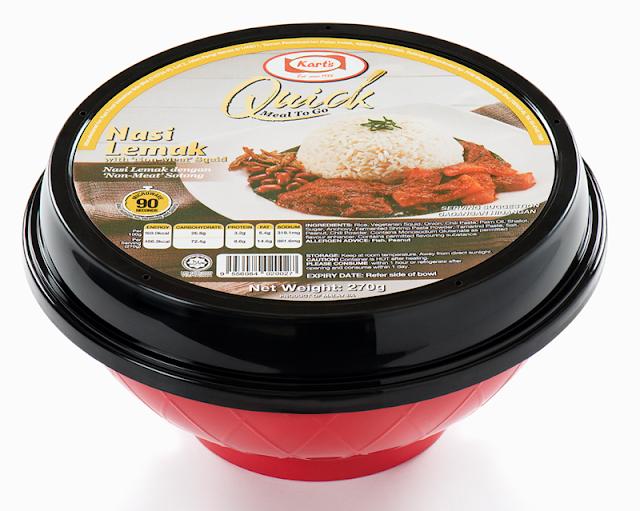 Nasi Lemak with 'Non-Meat' Squid