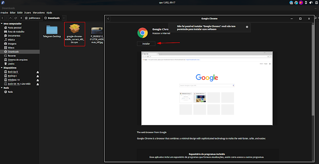 instalacao-google-chrome-rpm-gnome-software