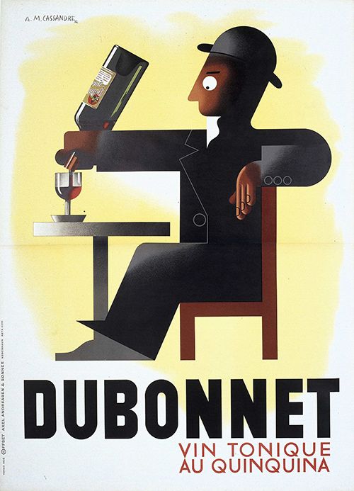 Dubonnet by A.M. Cassandre - Vintage French Advertising Poster, advertising, classic posters, food, free download, free posters, free printable, french poster, graphic design, printables, retro prints, vintage, vintage posters, vintage printables