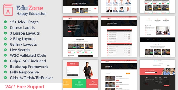 Responsive Education Website Jekyll Theme