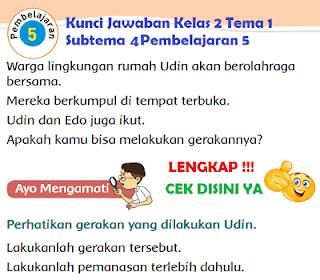 Kunci Jawaban Kelas 2 Tema 1 Subtema 4 Pembelajaran 5 www.simplenews.me