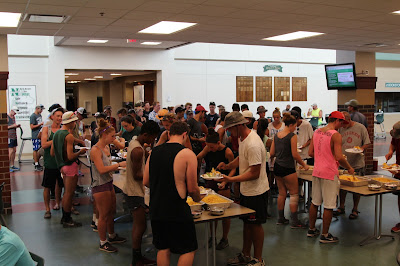 Band Shoppe hosted the Boston Crusaders for a BBQ dinner